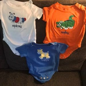 Infant short sleeve onesies - 3 pack